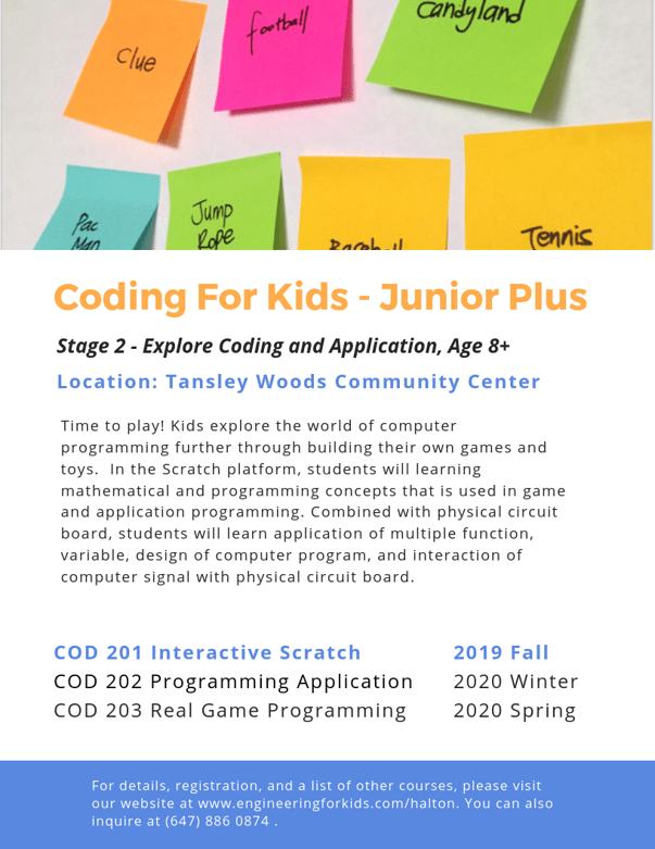 Coding for kids - junior plus.