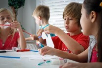 Homeschool Students in a STEM class