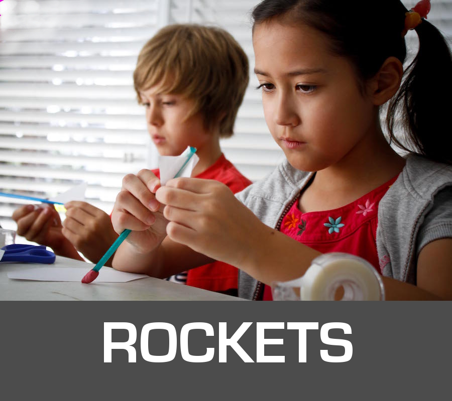 Kids working on rockets