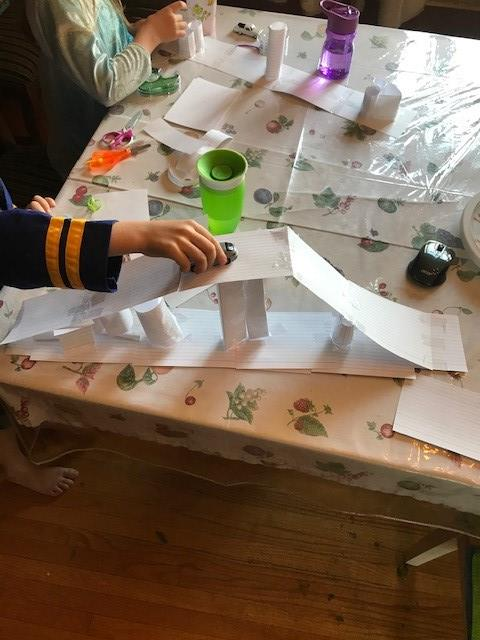 Kids doing at home STEM projects